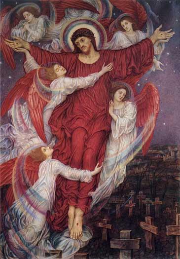 The Red Cross, (allegory of Flanders war graves), Evelyn De Morgan