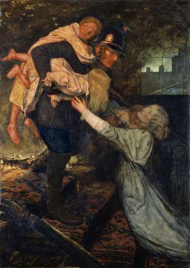 The Rescue, Sir John Everett Millais