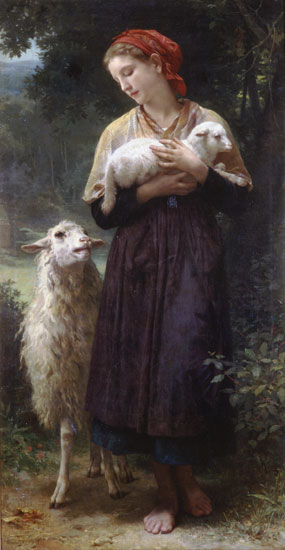 The Shepherdess, William-Adolphe Bouguereau