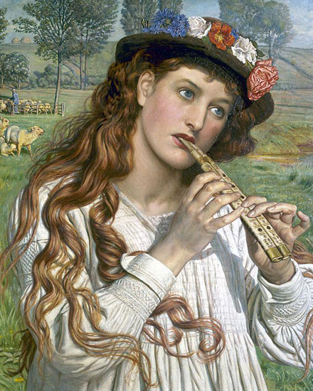 The Shepherdess, William Holman Hunt