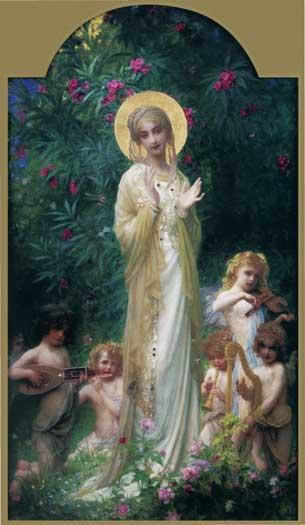 The Virgin in Paradise, Antoine Auguste Ernest Hebert