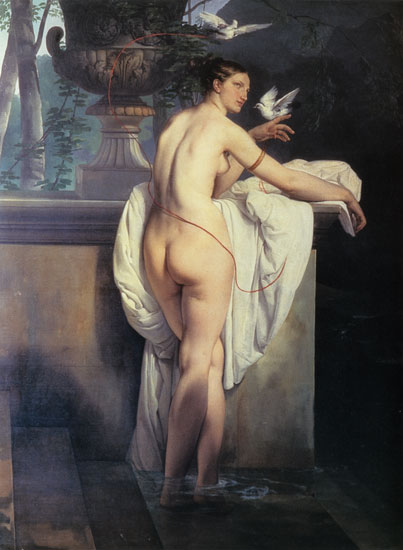 Venus Playing with two Doves, Hayez