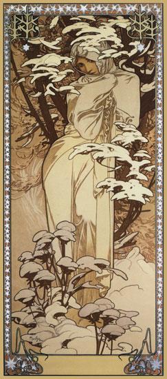 Winter, Alphonse Mucha