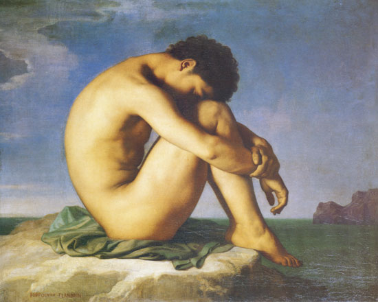 Young Man Nude, Hippolyte Flandrin