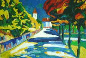 Autumn in Bavaria1908 Oil Painting Reproduction