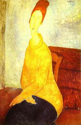 Jeanne Hebuterne In A Yellow Sweater 1918-19