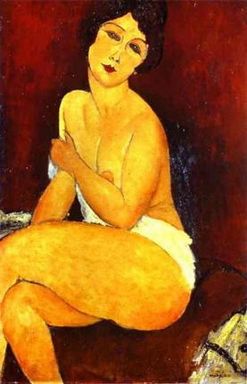 Seated Nude On Divan 1917