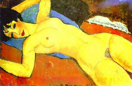 Sleeping Nude with Arms Open 1917