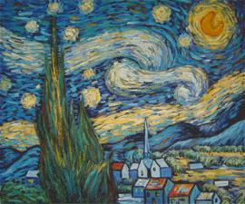 Starry Night (1889) van gogh paintings - van gogh art