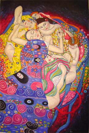 gustav klimt painting - virgin