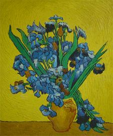 Irises (1890) van gogh paintings - van gogh art