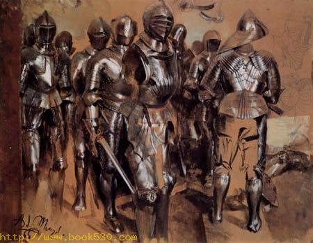 A group of standing arms