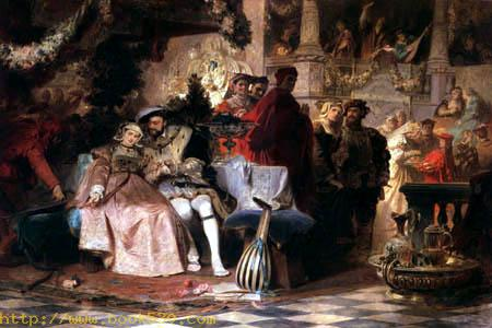 Heinrich VIII. wirbt um Anna Boleyn