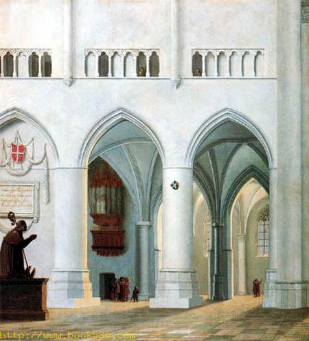 Innenansicht der Kirche St. Bravo, Haarlem