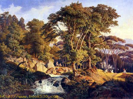 Italian landscape with torrent