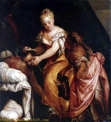 Judith with the head of the Holofernes