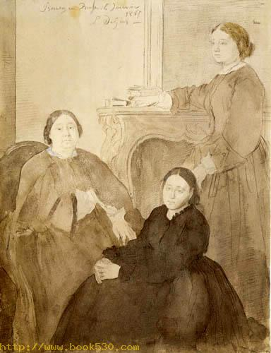 Madame Michel Musson with daughters