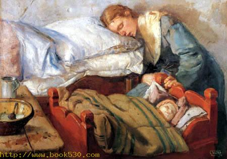 Mother and child, sleeping