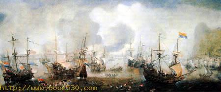 Naval battle near Gibraltar