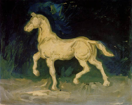 Plaster figure of a horse