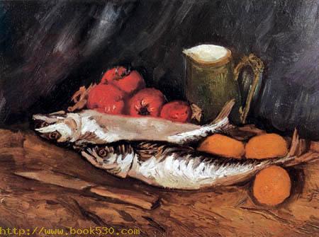 Stillleben mit Makrelen