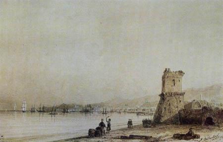 The Genoese tower of Feodosiya