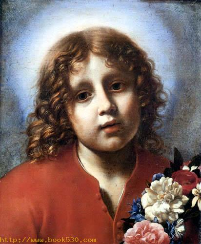 The Jesus child with girdle of flowers