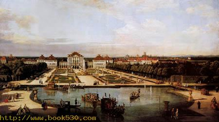 The Nymphenburg palace with park