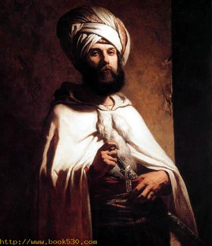Charles Cousin in a Arabian costume