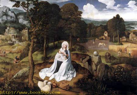 Resting during the flight into Egypt
