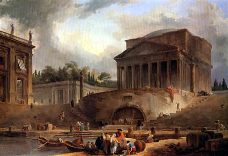 Architectural Composition with the Pantheon