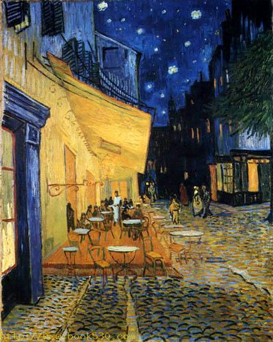 Cafe terrace in the night