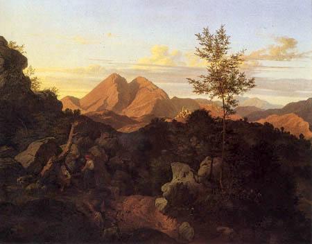 Evening in Rocca di Mezzo