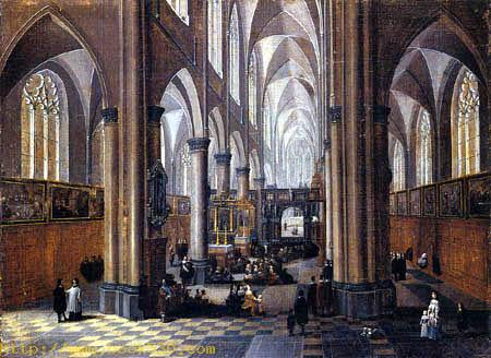 Interior of a gothical church
