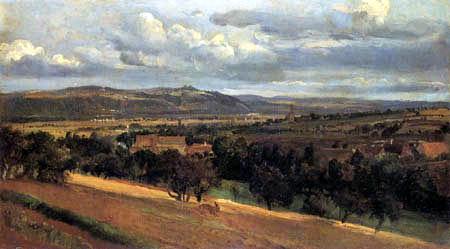 Landschaft vor Leubnitz