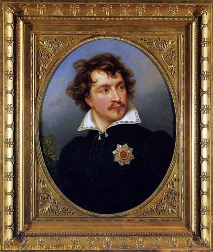 Ludwig I. as Crown Prince in old