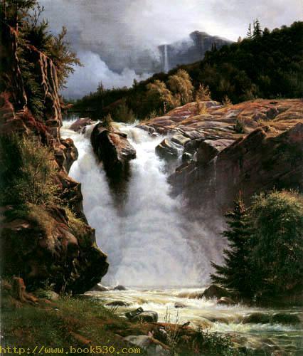 Norwegischer Wasserfall