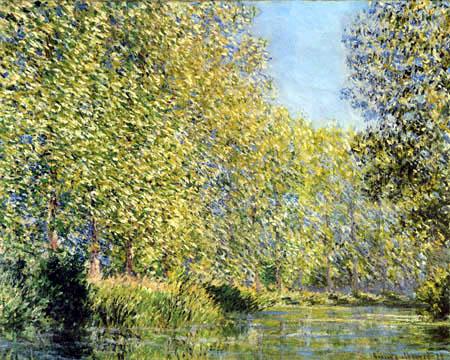 River landscape Epte, Giverney