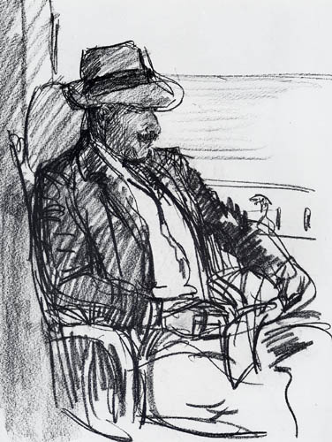 Selfportrait with straw hat