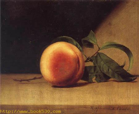 Still life with a peach