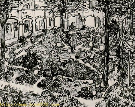 The garden of the hospital in Arles