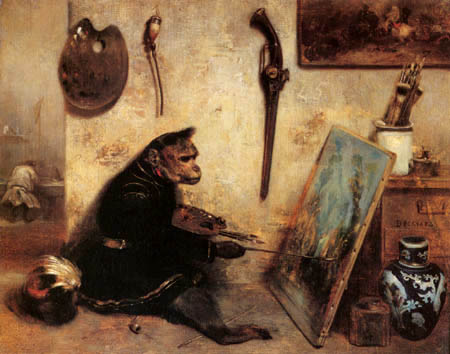 The Monkey as Painter