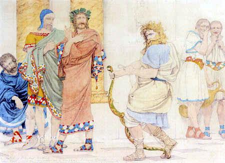Ulysses verkleidet als Bettler