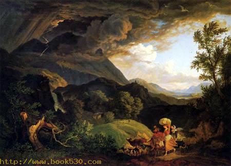 Gewitter am Monte Serone im Sabinergebirge