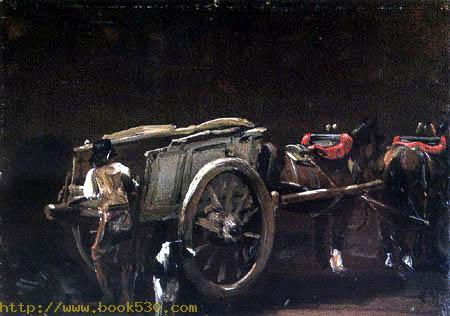 Wagen mit Pferden