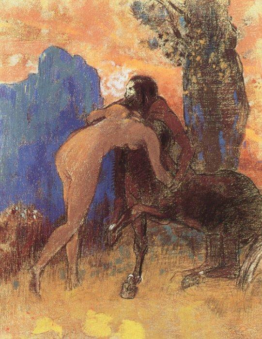 Struggle between Woman and Centaur