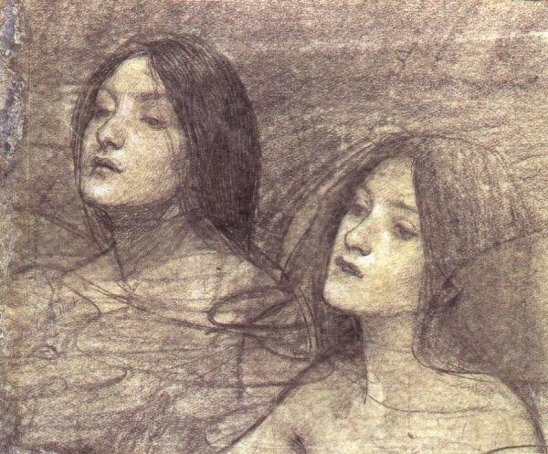 Two Nymphs - study for Hylas and the Nymphs