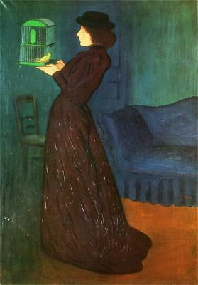 Woman with a Birdcage