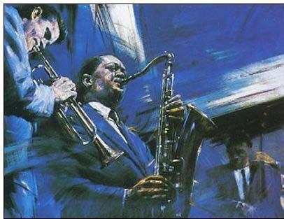 Jazz oil painting