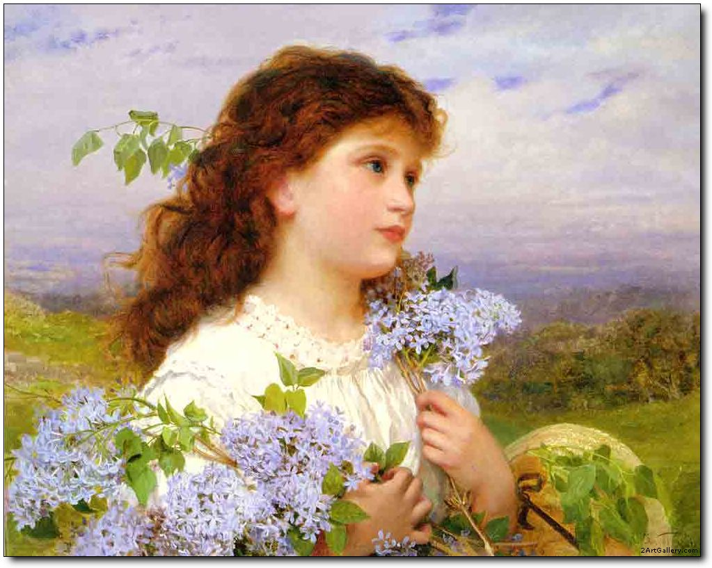 Woman oil painting,Portraits oil painting The Time of The Lilacs ...